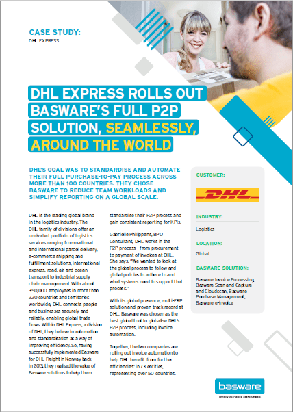DHL Express Rolls Out Basware's Full P2P Solution, Seamlessly, Around The World