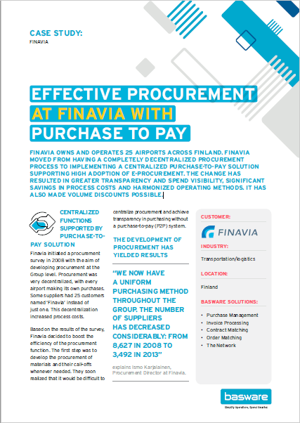 Effective Procurement at Finavia with Purchase to Pay