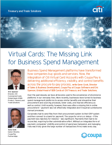 Virtual Cards: The Missing Link for Business Spend Management