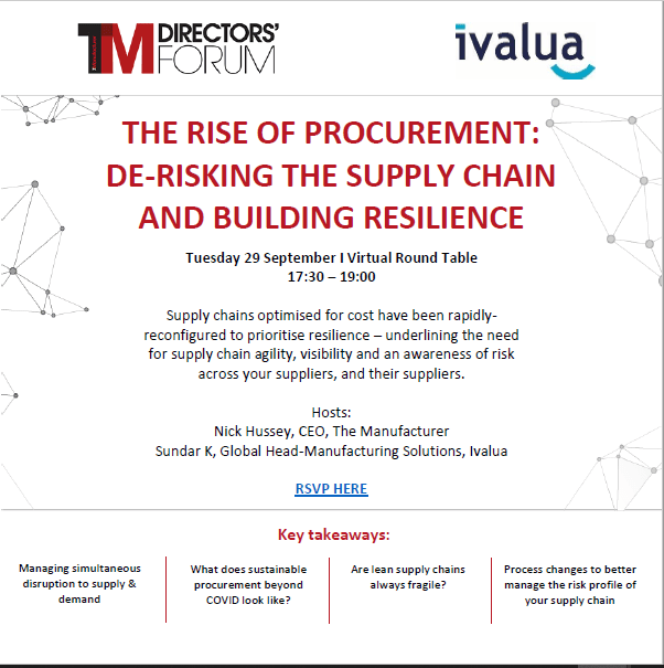 The Rise of Procurement: De-Risking The Supply Chain and Building Resilience