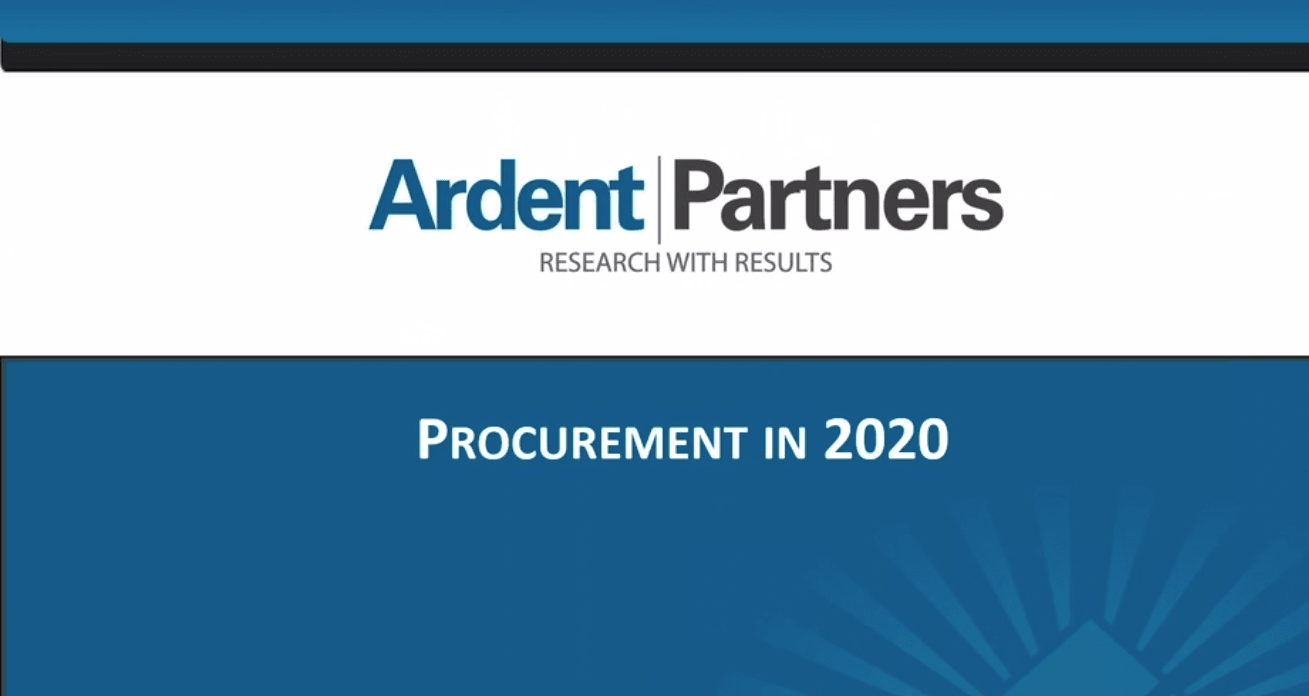 Procurement 2020: Key Metrics for the New Decade