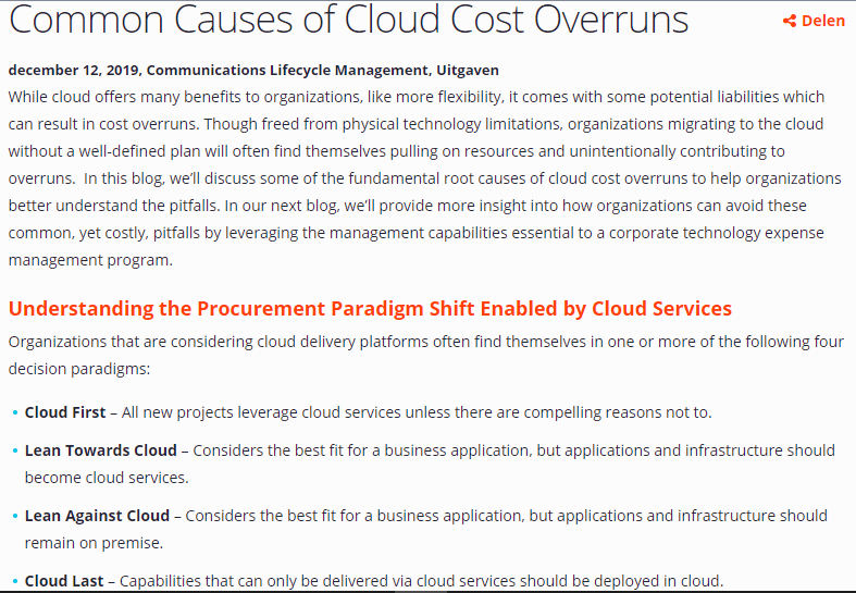 Common causes of cloud cost overruns