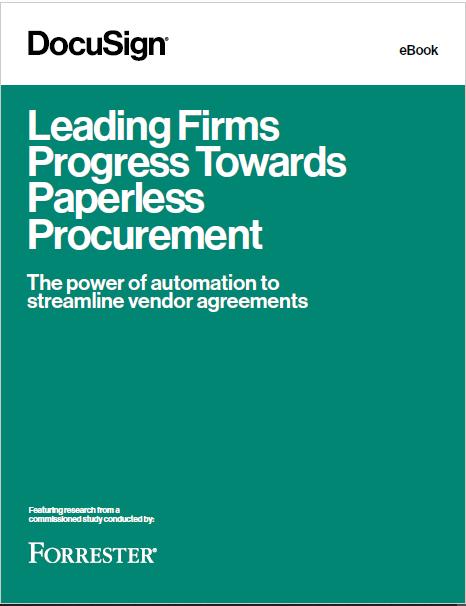 Leading Firms Progress Towards Paperless Procurement