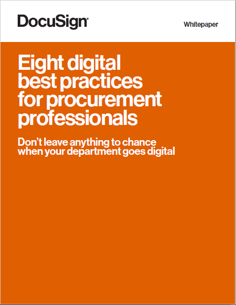 Eight digital best practices for procurement professionals