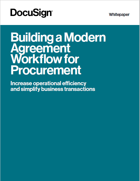 Building a Modern Agreement Workflow for Procurement