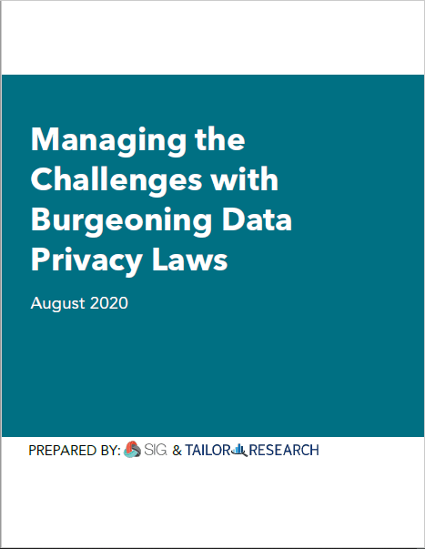 Managing the Challenges with Burgeoning Data Privacy Laws