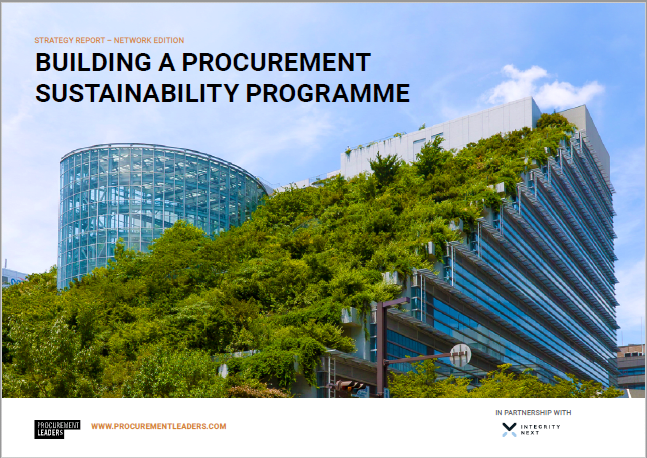 Strategy Report: Building a Procurement Sustainability Programme