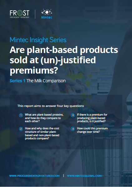 Mintec Insight Series: Are plant-based products sold at (un)-justified premiums?