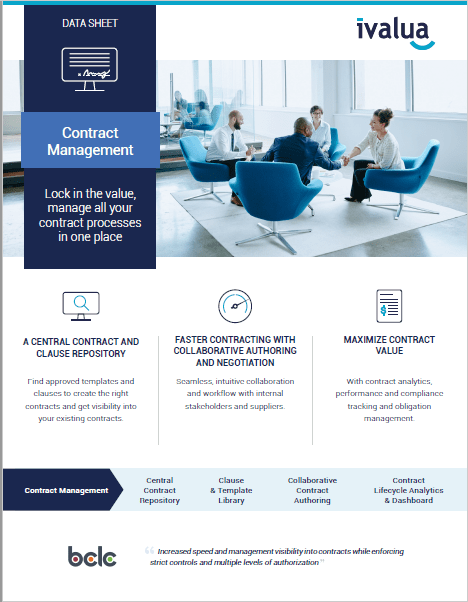 Contract Management - Lock in the value, manage all your contract processes in one place