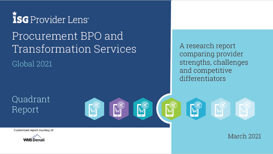 ISG Provider Lens™ Report: Procurement BPO and Digital Transformation Services