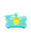 Turquoise Waste Bag Dispenser with Scented Bags