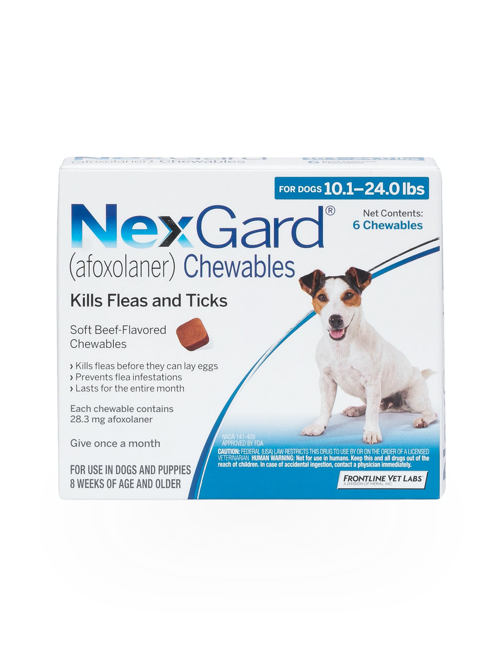 NexGard Chewables For Dogs 24.1-60 lbs. (6 Months)