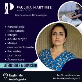 Kinesióloga Paulina Martínez