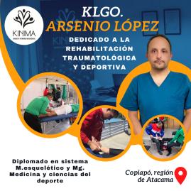 Klgo. Arsenio López, rehabilitación traumatológica y Deporti