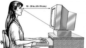 Jarak pandang terhadap monitor