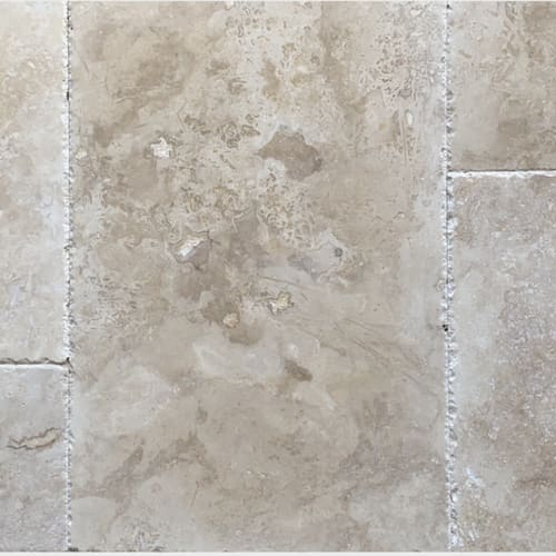 Ivory Brown Brushed  Chiseled - French