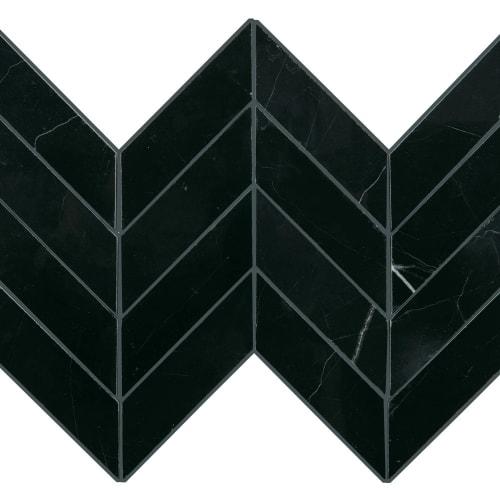 Pietra Divina Nero Marquina Chevron M462