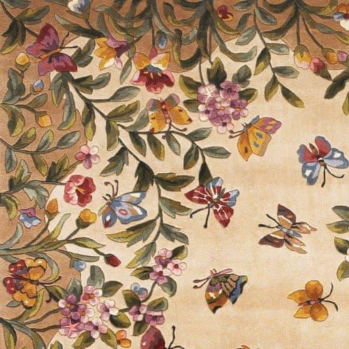 Emerald-9019-Antique Beige Butterfly Garden