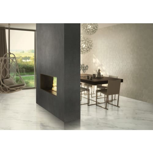 Alberta Luxury Vinyl Tile Calacatta Cream CACR