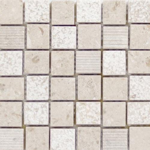 Limestone Presidio Ivory Mini Mosaic 6X24