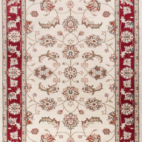 Avalon-5613-Ivory/Red Mahal