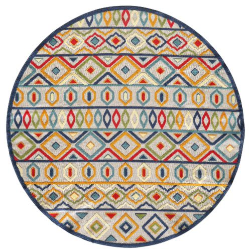 Calla-6928-Ivory/Multi Aztec