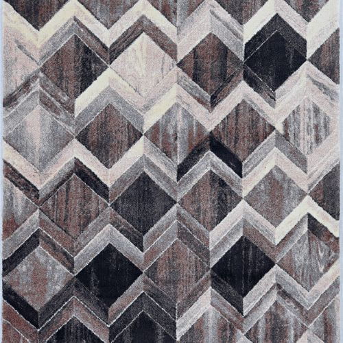 Elements-6555-Grey/Mocha Herringbone