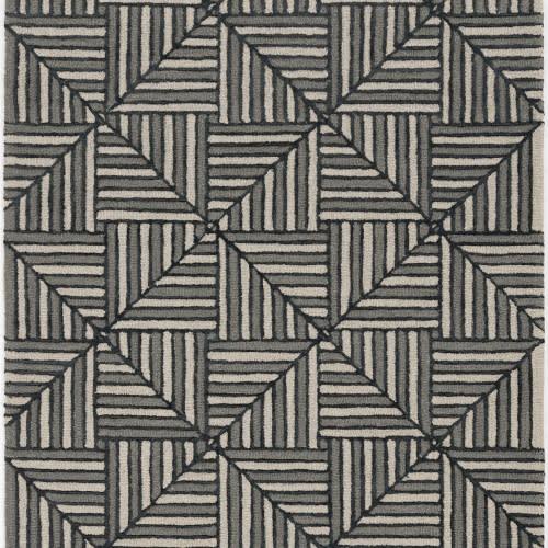 Libby Langdon-Upton-4304-Navy/Charcoal Diagonal Tile