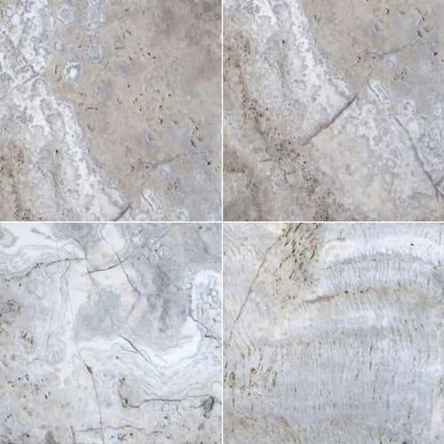 Silver Travertine Gray-Light 16X16