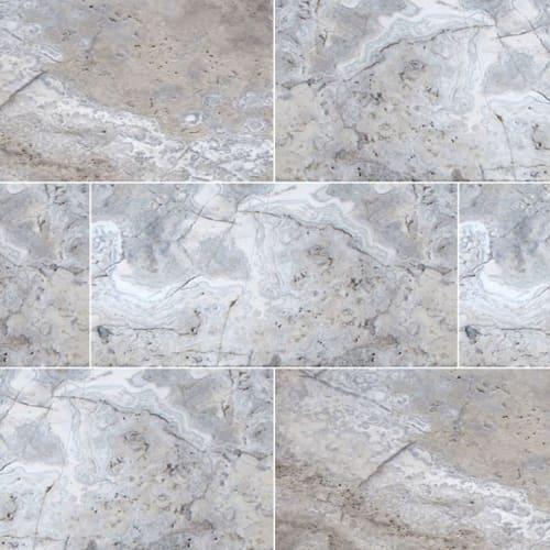 Silver Travertine Gray-Light 16X24