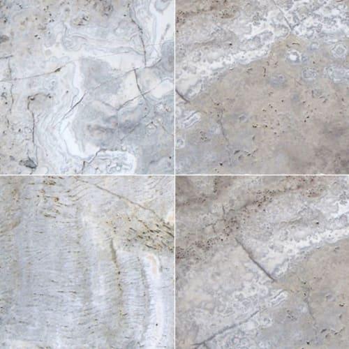 Silver Travertine Gray-Light 24X24