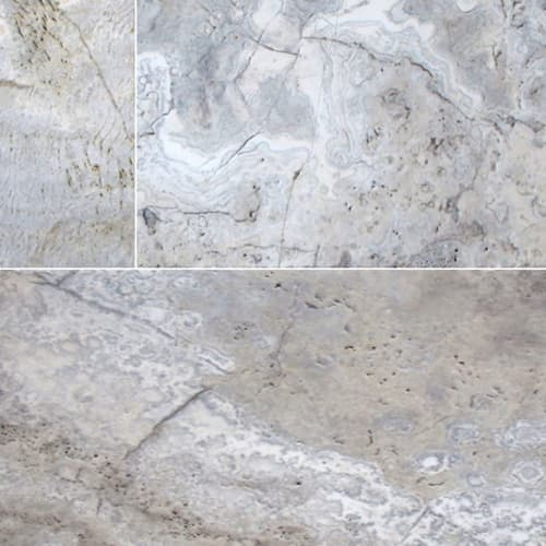 Silver Travertine Gray-Light 8X16