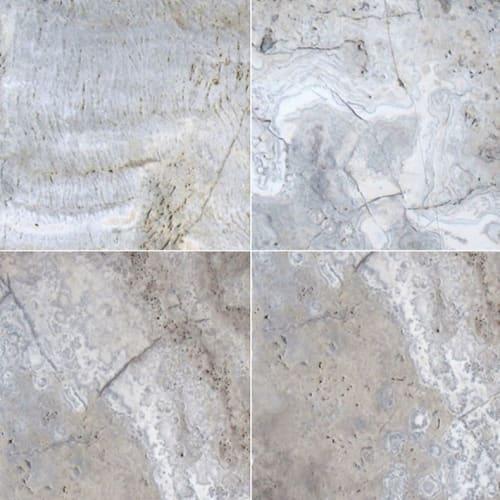 Silver Travertine Gray-Light 8X8