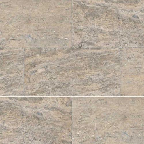 Silver Vein Cut Travertine Gray-Dark 12X24