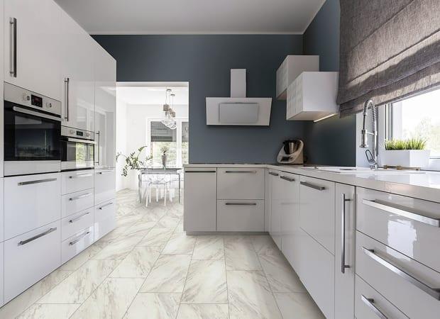 TRUCORE Luxury Vinyl Tile Carrara Taupe D1112