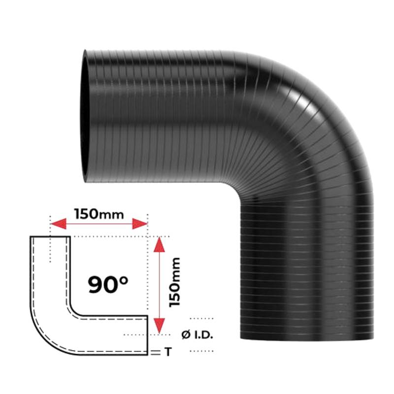 """Redback Silicone Hose (1-3/4"""") 90° Bend"""