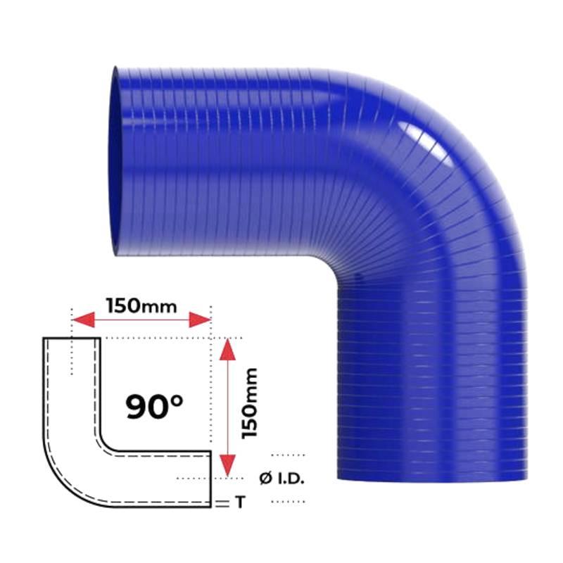 """Redback Silicone Hose (2-3/4"""") 90° Bend"""
