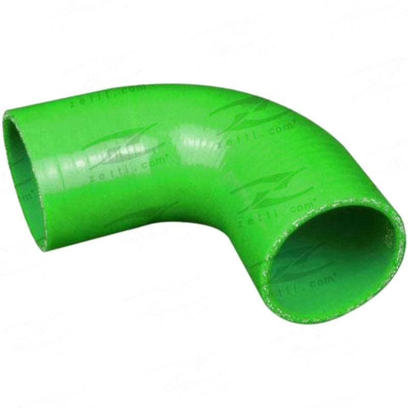 "ID 3"" (76mm), Green, 90 bend"