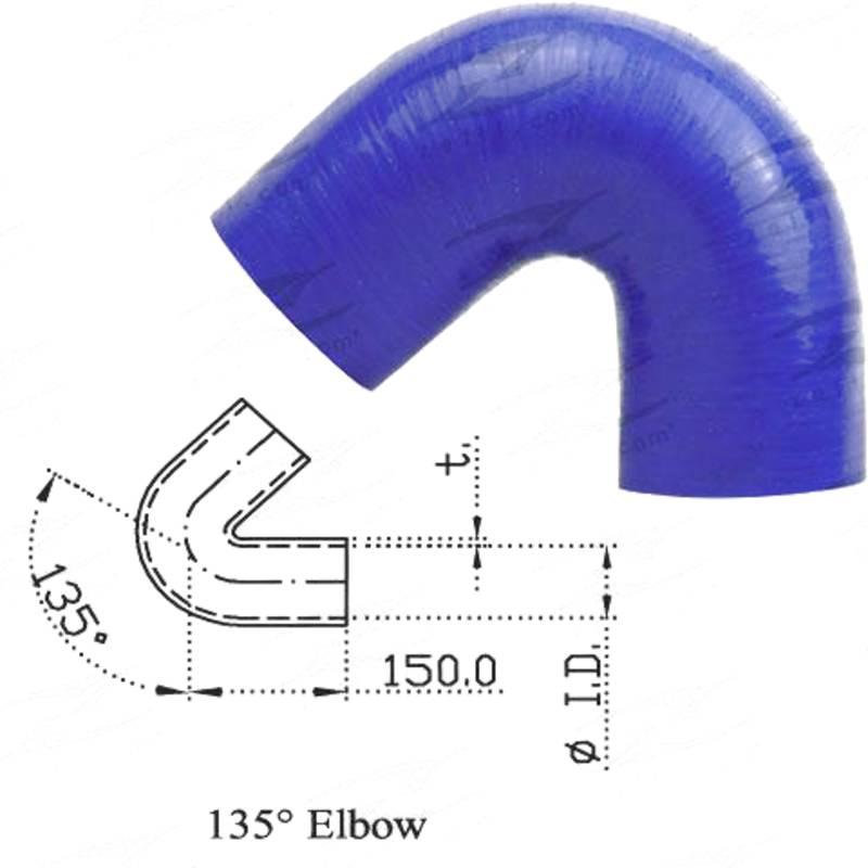 """Redback Silicone Hose (2"""") 135° Bend"""