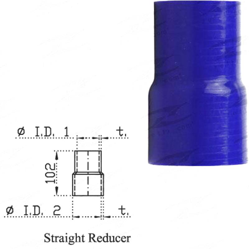 """Redback Silicone Hose (2"""" in, 2-1/4"""" out) Straight Reducer"""