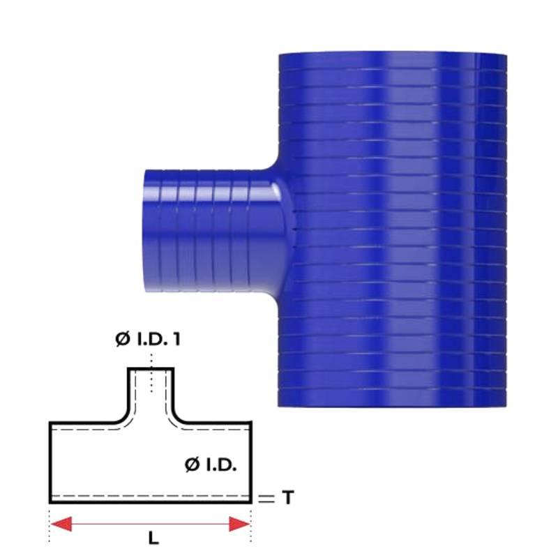 """Redback Silicone Hose (1-1/2"""") T-piece"""