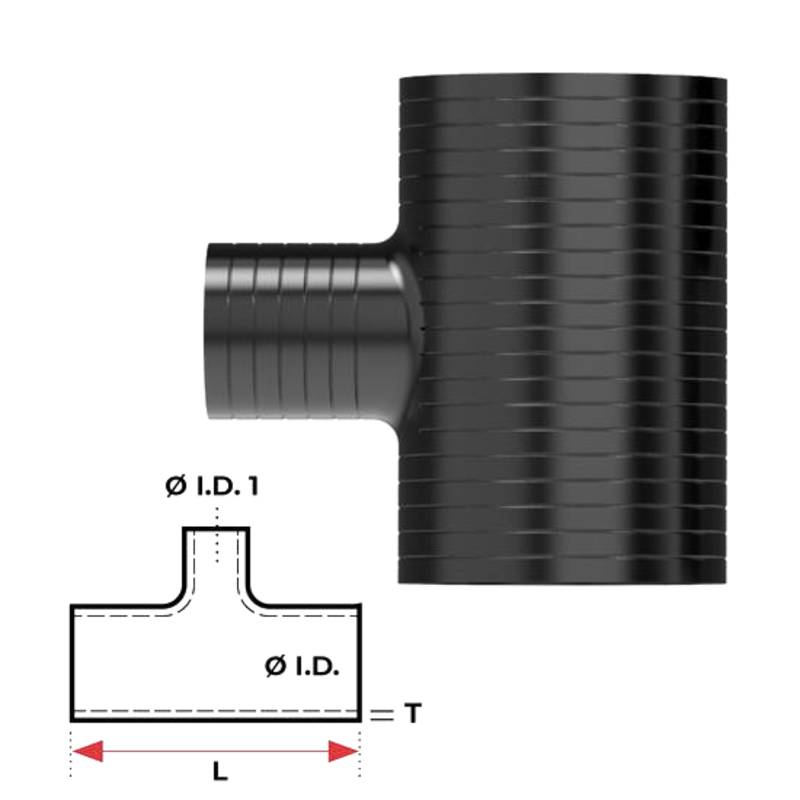 """Redback Silicone Hose (2-1/2"""") T-piece"""