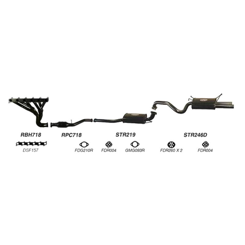 REDBACK EXHAUST - SPORTS SYSTEM TO SUIT FORD FALCON FG (2008 - 2014)