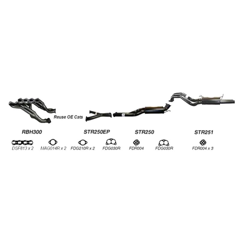 REDBACK EXHAUST - SPORTS SYSTEM TO SUIT FORD FAIRMONT BF (2005 - 2008), FORD FALCON BF (2005 - 2008)