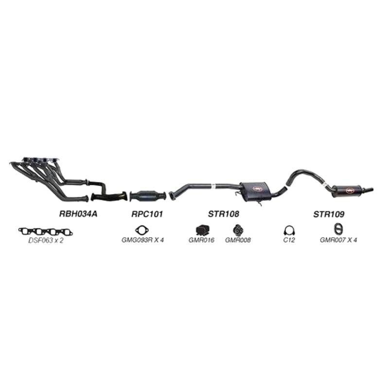 REDBACK EXHAUST - SPORTS SYSTEM TO SUIT HOLDEN COMMODORE VN, VP, VR (1988 - 1995)