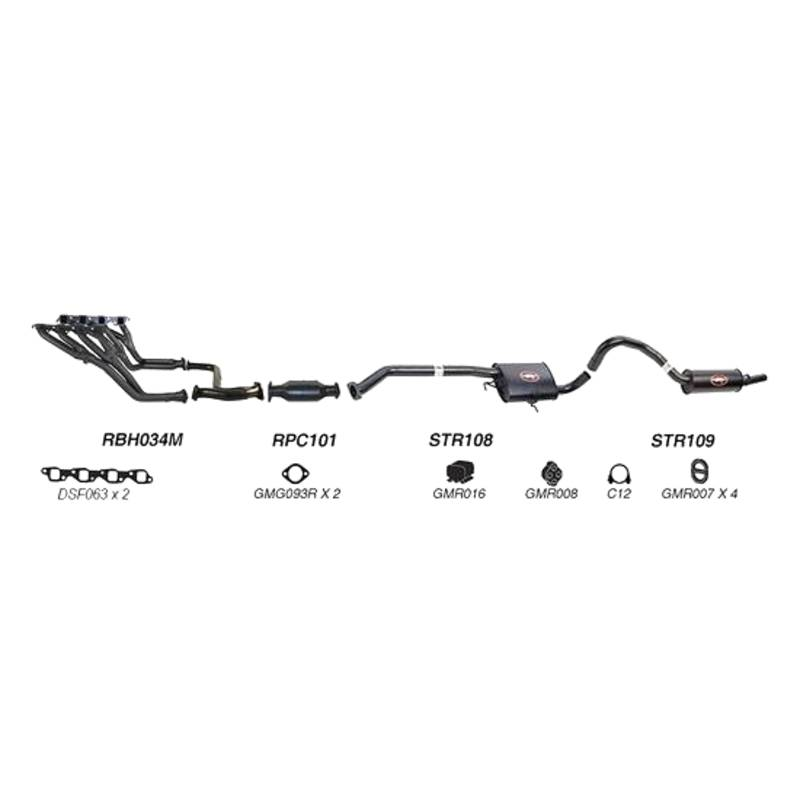 REDBACK EXHAUST - SPORTS SYSTEM TO SUIT HOLDEN COMMODORE VS (1995 - 2000)