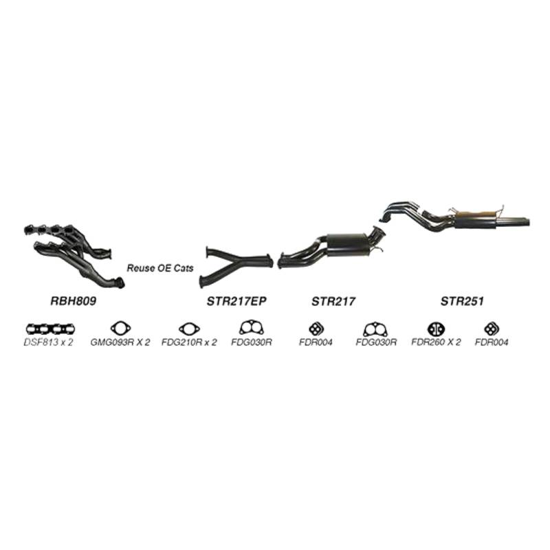 REDBACK EXHAUST - SPORTS SYSTEM TO SUIT FORD FALCON FG (2008 - 2011)