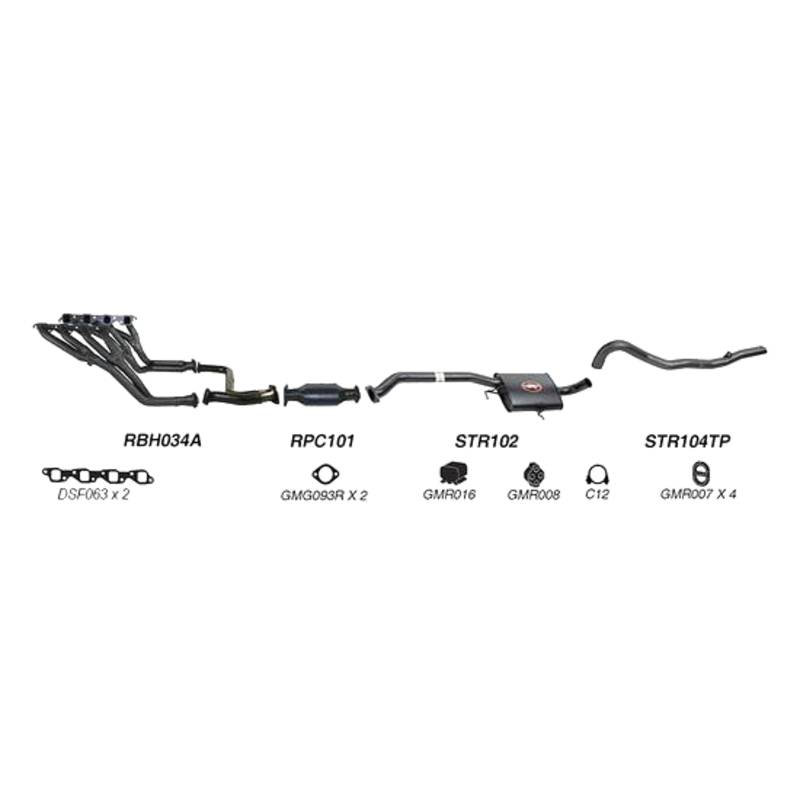Redback Sports System to suit Holden Commodore, Calais (01/1995 - 01/1997)