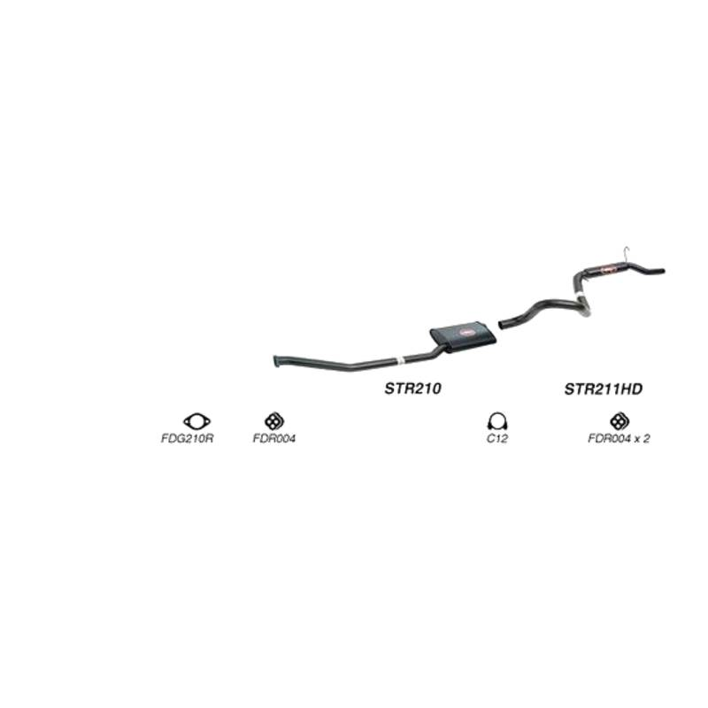 REDBACK EXHAUST - SPORTS SYSTEM TO SUIT FORD FAIRMONT AU, EB, ED, EF, EL (1992 - 2002), FORD FALCON AU, EB, ED, EF, EL (1992 - 2002)
