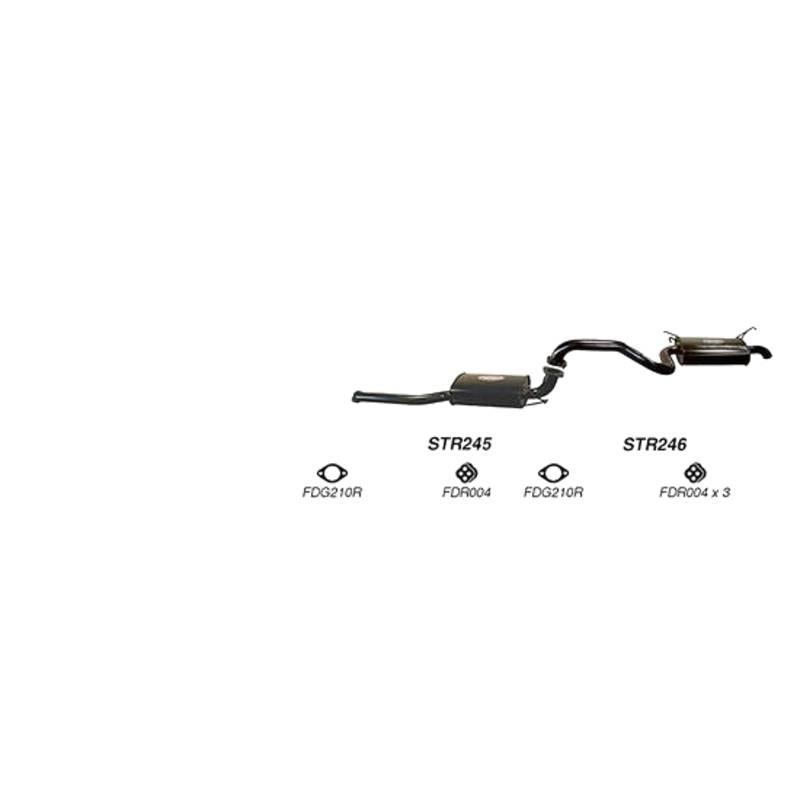 REDBACK EXHAUST - SPORTS SYSTEM TO SUIT FORD FAIRMONT BA, BF (2002 - 2008), FORD FALCON BA, BF (2002 - 2008)